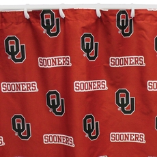 University of Oklahoma Printed Shower Curtain by College Covers