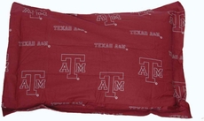 College Covers Texas A&M University Quilted Sham