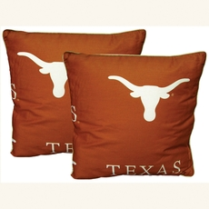 College Covers University of Texas Decorative Pillow Set of 2