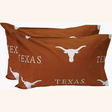 College Covers University of Texas King Pillowcase Pair