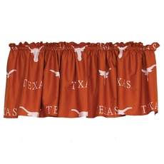 College Covers University of Texas Printed Curtain Valance