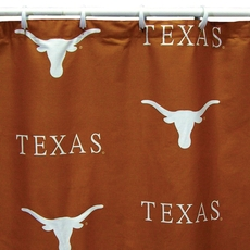 University of Texas Printed Shower Curtain by College Covers