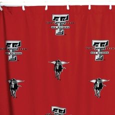 Texas Tech Printed Shower Curtain by College Covers