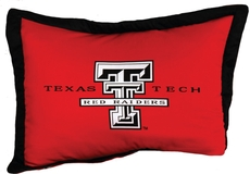 College Covers Texas Tech University Quilted Sham