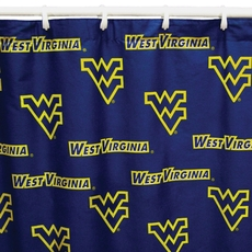 West Virginia University Printed Shower Curtain by College Covers