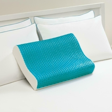Sealy Memory Foam & Hydraluxe Molded Blue Bubble Gel Contour Pillow by Comfort Revolution