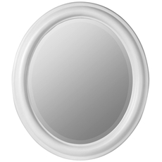 Cooper Classics Addison Oval Mirror in White