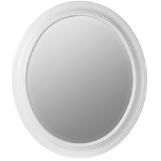 Cooper Classics Chelsea Oval Mirror in White