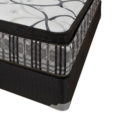 Cal King Corsicana Sleep Inc 8545 Fitzgerald Silver Euro Top Mattress