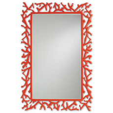 Currey & Company Corail Mirror in Red