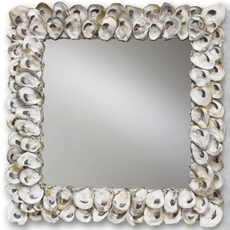 Currey & Company Square Oyster Shell Mirror