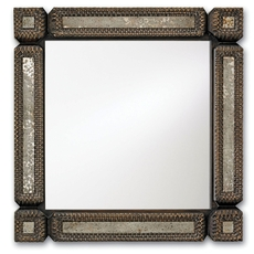 Currey & Company Tramp Art Square Mirror