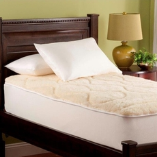Downright Luxury Wool Full Mattress Pad in Natural Wool