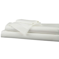 Clearance DreamFit Choice Natural Cotton Queen Sheet Set in White OVLB0818084