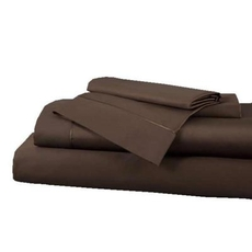 Clearance DreamFit Select World Class Cotton Twin XL Sheet Set in Cocoa OVLB0818094