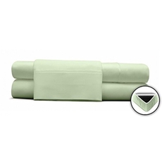 Clearance DreamFit Degree 5 Premium Bamboo-Rich Comfort Full XL Sheet Set in Pale Sage OVLB0818009