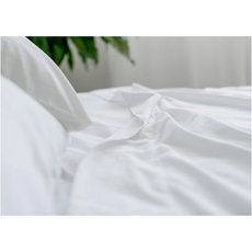 Dreamtex Organics 4 Piece Extra Large Twin Sheet Set in White
