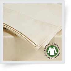 Dreamtex Organics 6 Piece California King Sheet Set in Natural
