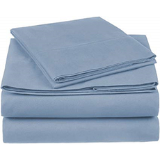 Dreamtex Organics 6 Piece King Sheet Set in Steel Blue