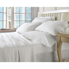 Dreamtex Organics 6 Piece King Sheet Set in White