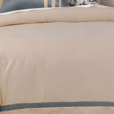Niche by Eastern Accents Dempsey Witcoff Taupe Button-Tufted Comforter