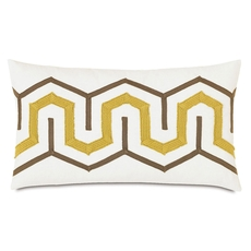 Niche by Eastern Accents McQueen Baldwin White Boudoir Pillow