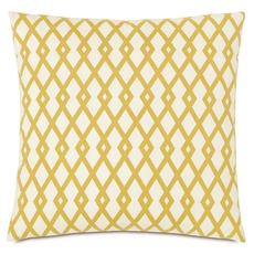 Niche by Eastern Accents McQueen Lattice Gold Square Accent Pillow