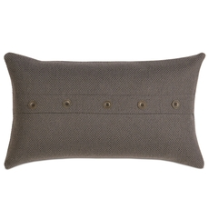 Niche by Eastern Accents Norris Crosby Charcoal Boudoir Pillow