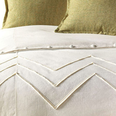Niche by Eastern Accents Sandler Filly White Duvet Cover