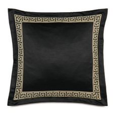 Abernathy Witcoff Black with Border Accent Pillow by Eastern Accents