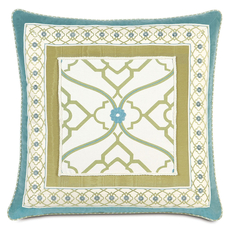 Bradshaw Border Collage Accent Pillow by Eastern Accents