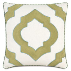 Bradshaw Filly White Hand-Painted Accent Pillow by Eastern Accents