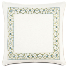 Bradshaw Filly White with Mitered Border Accent Pillow by Eastern Accents