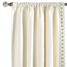 Bradshaw Filly White Curtain Panel by Eastern Accents