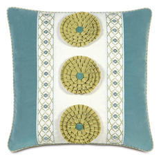 Bradshaw Filly White Insert with Rosettes Accent Pillow by Eastern Accents