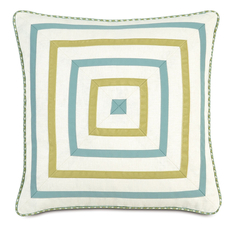 Bradshaw Filly White Mitered Accent Pillow by Eastern Accents
