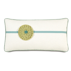 Bradshaw Filly White with Rosette Accent Pillow by Eastern Accents