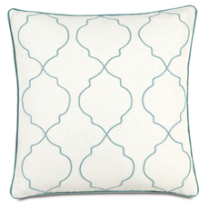 Bradshaw Filly White with Small Welt Accent Pillow by Eastern Accents