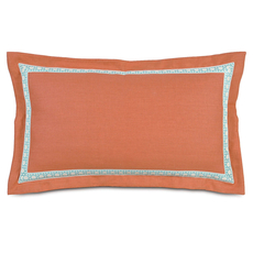 Capri Breeze Tangerine King Sham by Eastern Accents