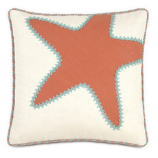 Capri Breeze Tangerine Starfish Accent Pillow by Eastern Accents