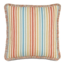 Capri Paradise Sunrise with Brush Fringe Accent Pillow by Eastern Accents
