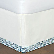 Ceylon Filly White Bed Skirt by Eastern Accents