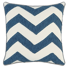 Ceylon Garrison Storm Chevron Accent Pillow by Eastern Accents