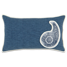 Ceylon Garrison Storm with Paisley Insert Accent Pillow by Eastern Accents