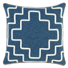 Ceylon Garrison Storm with Brush Fringe Accent Pillow by Eastern Accents