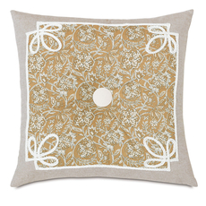 Edith Fellows Amber Tufted Accent Pillow by Eastern Accents