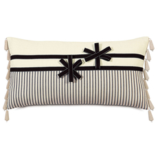 Evelyn Breeze Ascot with Ribbon Flowers Accent Pillow by Eastern Accents
