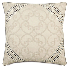 Evelyn Desiree Pearl with Gimp Accent Pillow by Eastern Accents