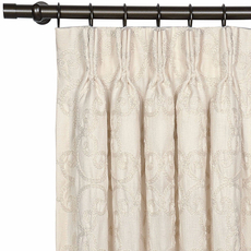 Evelyn Desiree Pearl Curtain Panel by Eastern Accents
