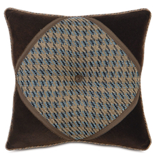 Powell Garrett Stone Diamond Tufted Accent Pillow by Eastern Accents